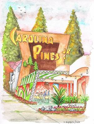 Fast Painting - Carolina Pines Jr In La Brea And Sunset Blvd - Hollywood - California by Carlos G Groppa
