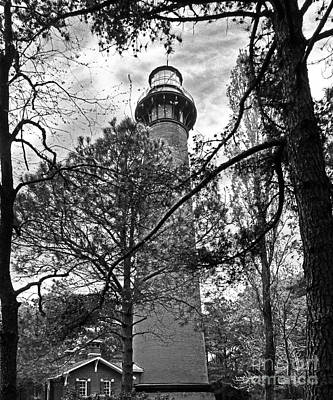 Photograph - Corolla Lighthouse Monochrome by Dawn Gari