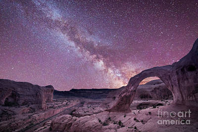 Insomniac Photograph - Corona Arch Milky Way by Michael Ver Sprill
