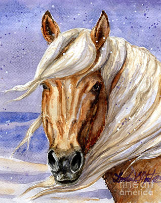 Painting - Corona Band Stallion Of Sand Wash Basin Hma by Linda L Martin