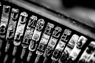 Typewriter Photograph - Corona Four Typewriter Detail by Jon Woodhams