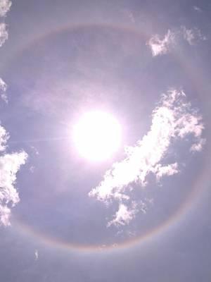 Diamond Dust Photograph - Corona Halo Of The Sun by JS Matthew