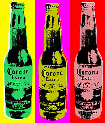 Digital Art - Corona Beer by Jean luc Comperat