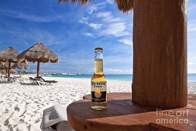 Sand Bottles Photograph - Corona On The Beach by Brandon Alms