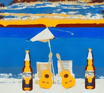 Painting - Corona Pop Art by Dan Sproul