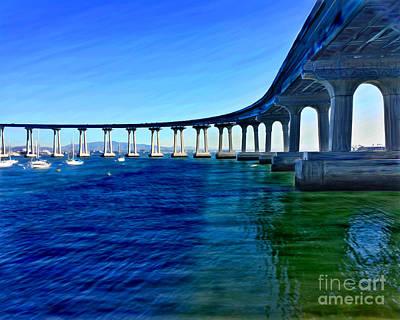 Mixed Media - Coronado Bridge 2014 by Glenn McNary