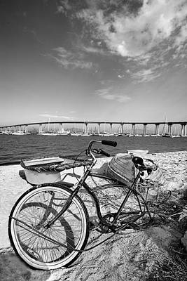San Diego Bay Photograph - Coronado Bridge Bike by Peter Tellone