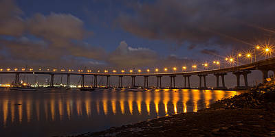 Photograph - Coronado Bridge by Peter Tellone