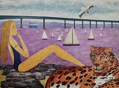 Coronado Bridge   San Diego Art Print
