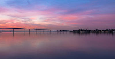 Photograph - Coronado Bridge Sunrise by Robert  Aycock