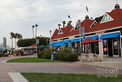 Coronado Bay Photograph - Coronado Ferry Landing Marketplace In Coronado California 5d24332 by Wingsdomain Art and Photography