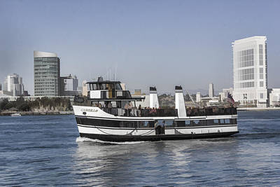 Digital Art - Coronado Ferry by Photographic Art by Russel Ray Photos