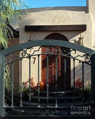 Coronado Gate And Door Print by Barbie Corbett-Newmin