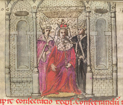 Coronation Of Henry I Print by British Library