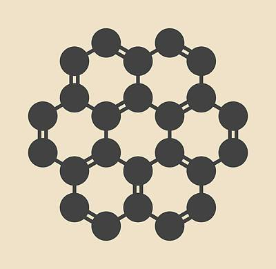 Fused Photograph - Coronene Hydrocarbon Molecule by Molekuul