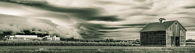Shed Digital Art - Corporate Existance Amongst The Farmland by Jim Finch