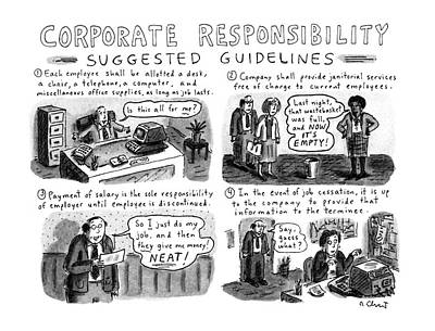 Free Drawing - Corporate Responsibility Suggested Guidelines by Roz Chast