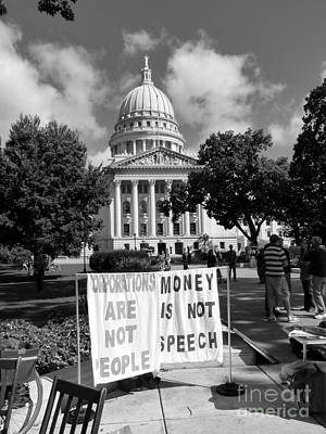 Photograph - Corporations Are Not People by David Bearden