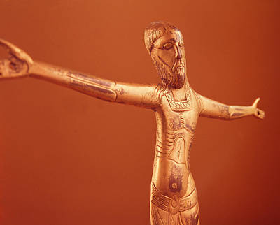 Crucify Photograph - Corpus Christi, C.1240 Bronze Gilt by French School