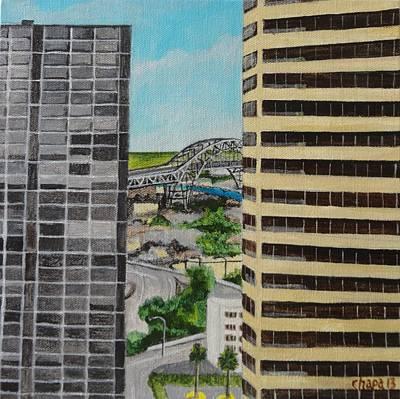 Painting - Corpus Christi - Harbor Bridge by Manny Chapa