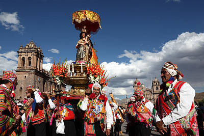 Natividad Photograph - Corpus Cristi In Cusco by James Brunker