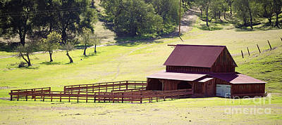 Photograph - Corral And Barn by Richard J Thompson