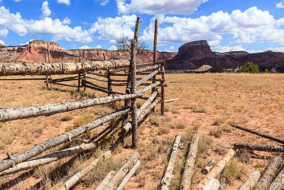 Photograph - Corral With Mesas by Ben Graham