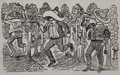 Corrido Mexican Folk Song. 1911 Art Print by Everett