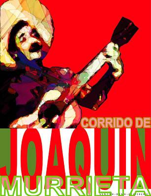 Digital Art - Corrido Of Joaquin Murrieta Poster by Craig A Christiansen