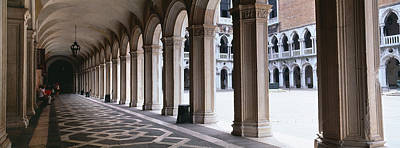 Doges Palace Photograph - Corridor At A Palace, Doges Palace by Panoramic Images
