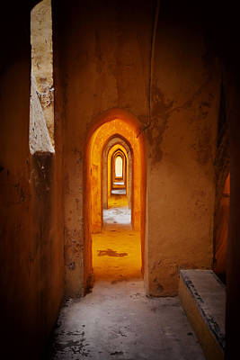 Corridor In The Real Alcazar Of Seville Art Print