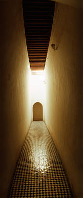 Moroccan Photograph - Corridor Inside The Bahia Palace by Panoramic Images