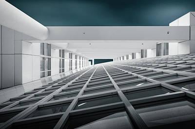 Grid Photograph - Corridors Of Power by Michiel Hageman