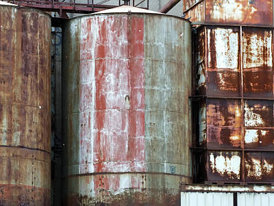 Corroding Silos Art Print by Robert Knight