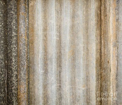 Roofing Tin Photograph - Corrugated Iron by Tim Hester