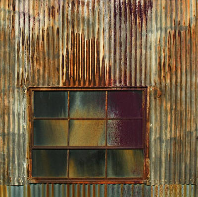 Photograph - Corrugated Metal Img 6710 by Greg Kluempers