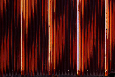 Photograph - Corrugated Patterns In Orange And Black by Greg Kluempers