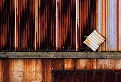 Photograph - Corrugated Steel Mill Wall Alton Il by Greg Kluempers