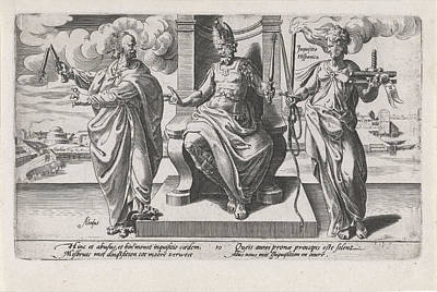 Clergy Drawing - Corrupt Rulers And The Spanish Inquisition Commit Murder by Dirck Volckertsz Coornhert And Adriaan De Weerdt And Hendrick Hondius I