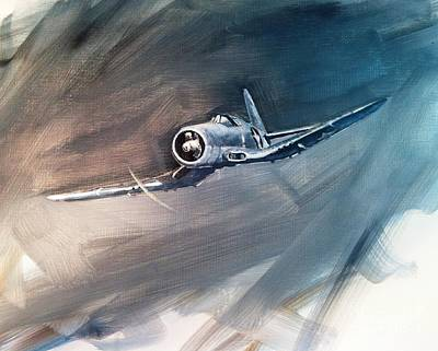 Corps Painting - Corsair Sketch 1 by Stephen Roberson