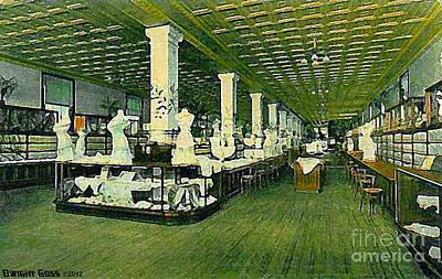 Painting - Corset Department In Bluem's Department Store In Lima Ohio 1910 by Dwight Goss