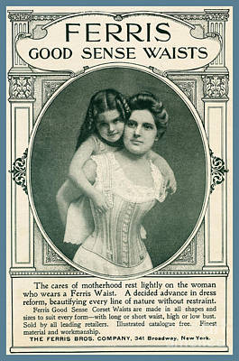 Photograph - Corset For Mothers From 1901 Advertisment by Phil Cardamone