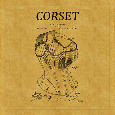 Photograph - Corset Patent 1 by Andrew Fare