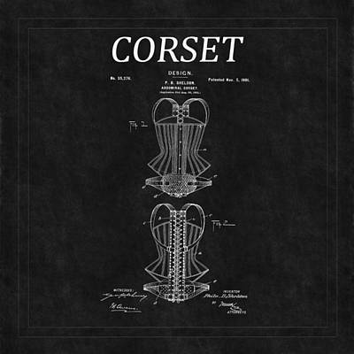 Photograph - Corset Patent 11 by Andrew Fare