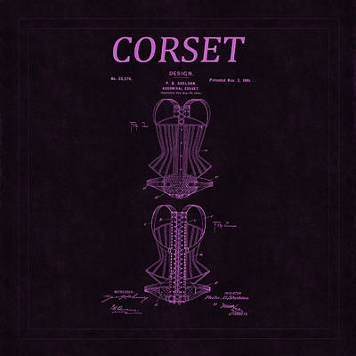 Photograph - Corset Patent 12 by Andrew Fare