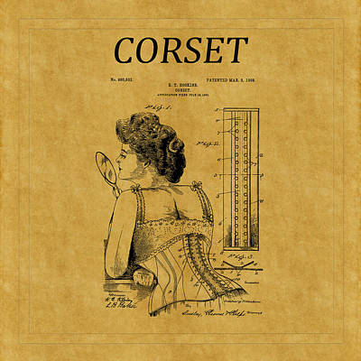 Photograph - Corset Patent 13 by Andrew Fare