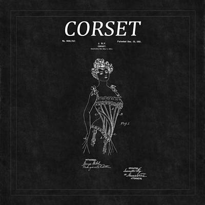 Photograph - Corset Patent 8 by Andrew Fare