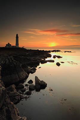 Dumfries Photograph - Corsewall Lighthouse Sunset by Grant Glendinning
