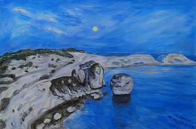 Corsica Bonifaccio Evening Art Print by Agnieszka Praxmayer