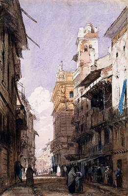 City Scenes Drawing - Corso Saint Anastasia, Verona by Richard Parkes Bonington